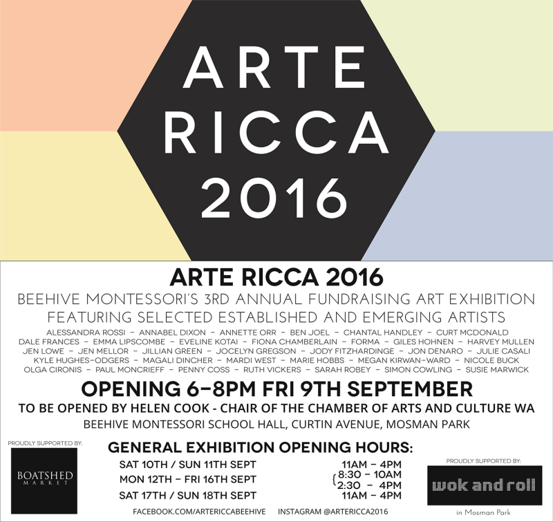 Arte Ricca 2016 opening invitation
