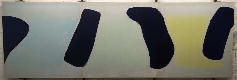 2018#6 (Savanna) 121X365 Triptych